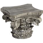 Stone Like Architectural Ruin Style Distressed Cream Candle Holder